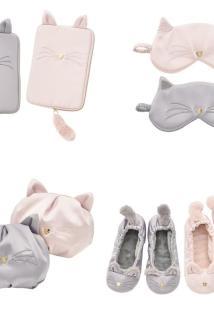 邮多多淘宝集运转运可爱猫咪造型系列化妆包  眼罩 纸巾包  家居鞋 多色分开选