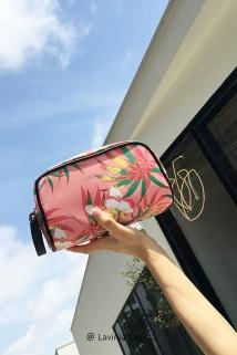 邮多多淘宝集运转运女化妆包韩国小号大容量化妆包手提防水收纳包便携随身旅行洗漱包