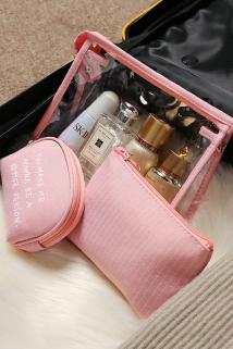 邮多多淘宝集运转运随身化妆包网红小号收纳包便携旅行简约可爱大容量少女口红洗漱袋