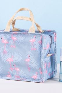邮多多淘宝集运转运火烈鸟化妆包便携简约韩国大容量品收纳随身ins少女学生可爱网红