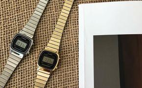淘宝集运转运到德国casio卡西欧复古小金表运动休闲电子表嘻哈手表男女士手表方形表