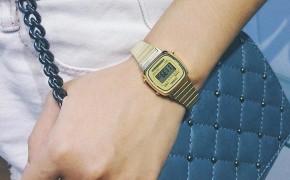 淘宝集运转运到德国casio复古小金表运动休闲电子表金表女士手表卡西欧LA670WGA-9D