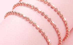 淘宝集运转运到美国925纯银项链女圆珠玫瑰金豆豆链镀18k白金彩银锁骨不掉色银链子