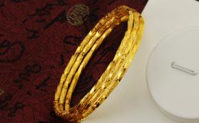 淘宝集运转运到加拿大时尚简约镀24K黄金手镯细手环 女友礼物非欧币女士镯子仿真手镯