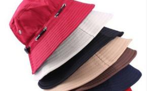 淘宝集运转运到西班牙春秋旅行团渔夫帽男士盆帽旅游防晒棉布帽子女士户外太阳帽情侣帽