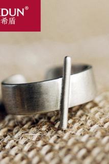 邮多多淘宝集运转运KXDUN/卡希盾手工复古银戒指女士款个性潮人食指银饰指环gs1119