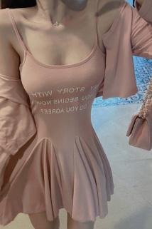 邮多多淘宝集运转运御姐气质性感套装2021春装新款低胸收腰女装吊带连衣裙两件套女夏