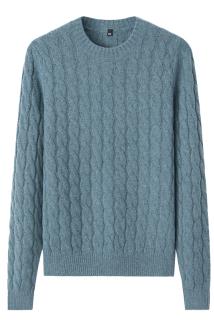 邮多多淘宝集运转运秋冬新款羊绒衫女式圆领绞花韩版修身针织打底衫套头保暖毛衣