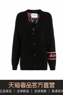 邮多多淘宝集运转运ICEBERG多色童话皇后图案时尚女士V领羊毛针织开衫外套