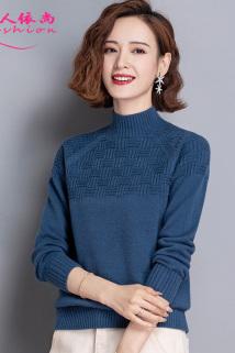 邮多多淘宝集运转运半高领毛衣女士短款宽松外穿秋冬季2020年新款内搭时尚针织打底衫
