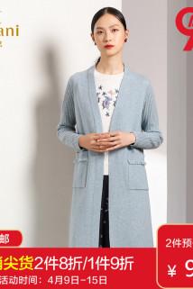 邮多多淘宝集运转运乔万尼2020春秋装新款修身外搭外套长袖羊毛针织开衫女士过膝长款