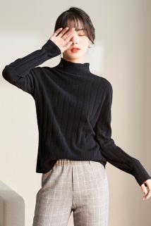 邮多多淘宝集运转运秋冬针织上衣女士毛衣新款2020新款半高领打底羊毛针织衫