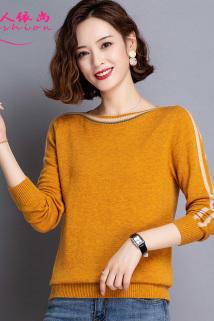 邮多多淘宝集运转运针织衫女士短款长袖宽松外穿秋冬装2020年新款洋气套头毛衣打底衫
