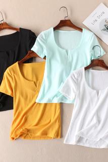 邮多多淘宝集运转运外贸!敲百搭夏季经典款修身显瘦女式短袖T恤短款上衣女装 D650
