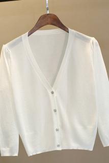 邮多多淘宝集运转运披肩夏季薄款冰丝针织开衫女短款小外套空调防晒衫外搭配裙子上衣
