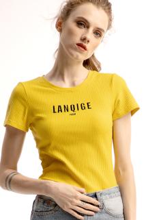 邮多多淘宝集运转运针织t恤短袖2021年新款女春夏纯棉紧身修身体桖短款半袖欧货上衣