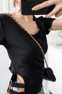 邮多多淘宝集运转运小心机V领短袖T恤女2021新款夏修身设计感小众上衣短款显瘦ins潮