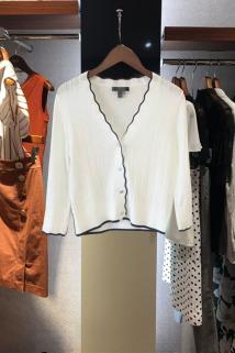 邮多多淘宝集运转运prich针织衫2021夏季韩版时尚纯色短款淑女冰丝针织空调开衫上衣
