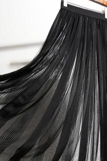 邮多多淘宝集运转运法森娜透明网纱半身裙一层外穿纱裙透视单外搭新款单层罩绑带一片