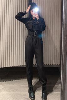 邮多多淘宝集运转运高档21新款秋季工装帅裤体套装酷C女装连气春秋连体衣时尚气质奢